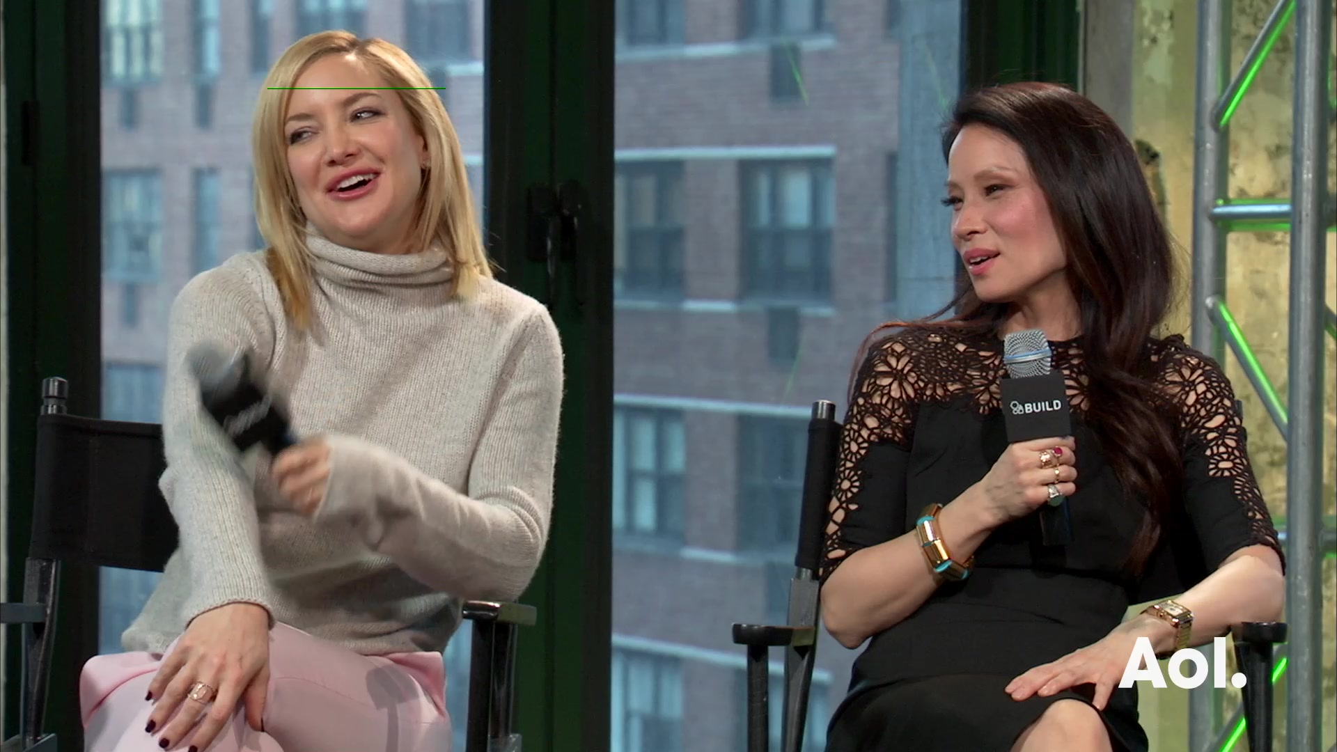 "Kate Hudson and Lucy Liu On ""Kung Fu Panda 3"""