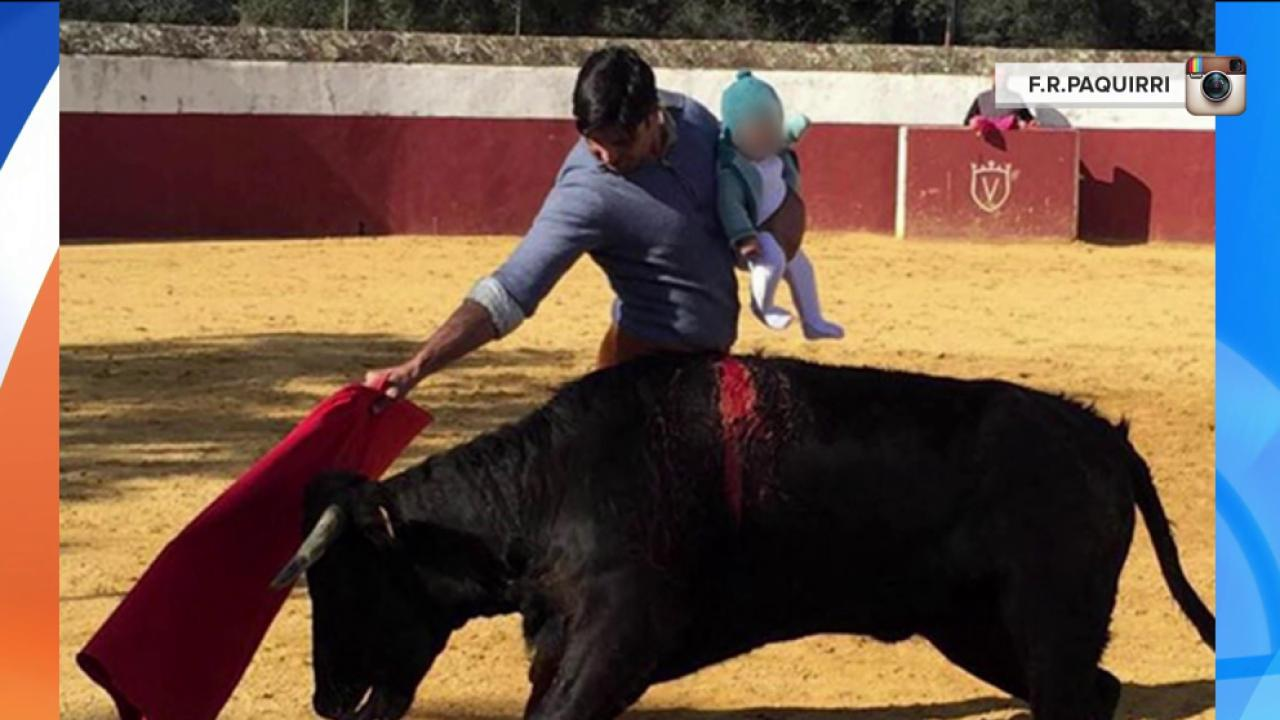 Matador Posts Photo of Bullfighting While Holding Infant Daughter