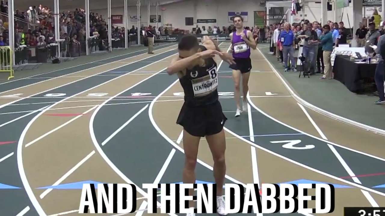 Runner Dabs After Sub-4 Minute Mile