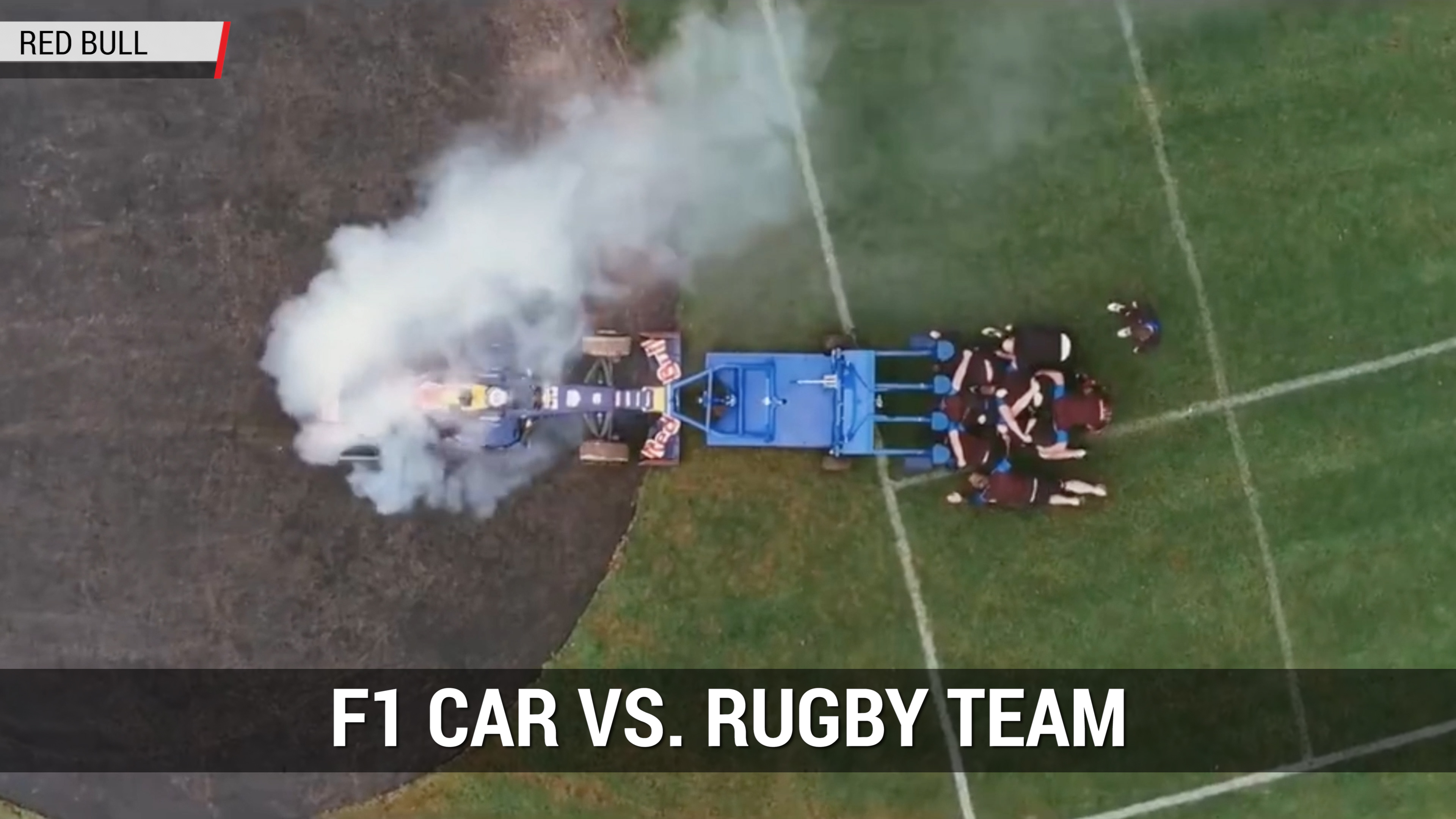 F1 Car Vs. 8 Rugby Players | Autoblog Minute