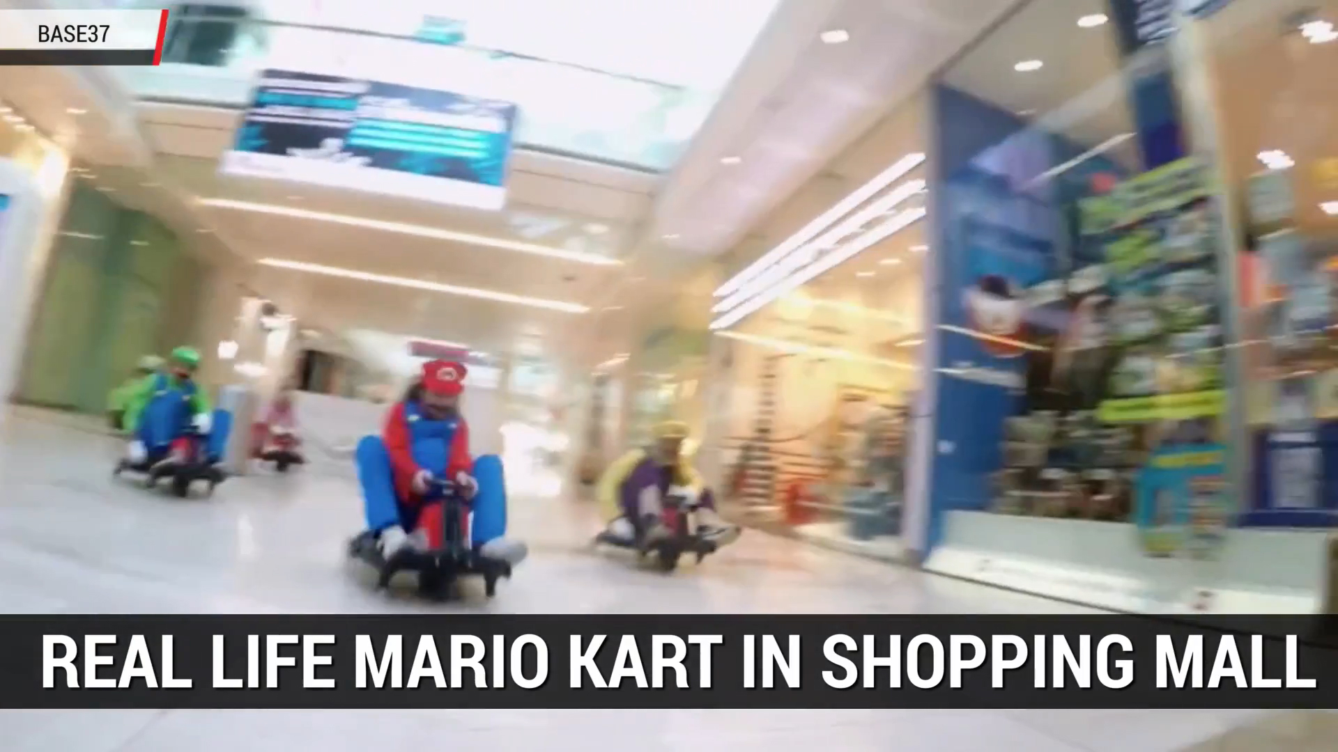 Real Life Game of Mario Kart in London Mall | Autoblog Minute