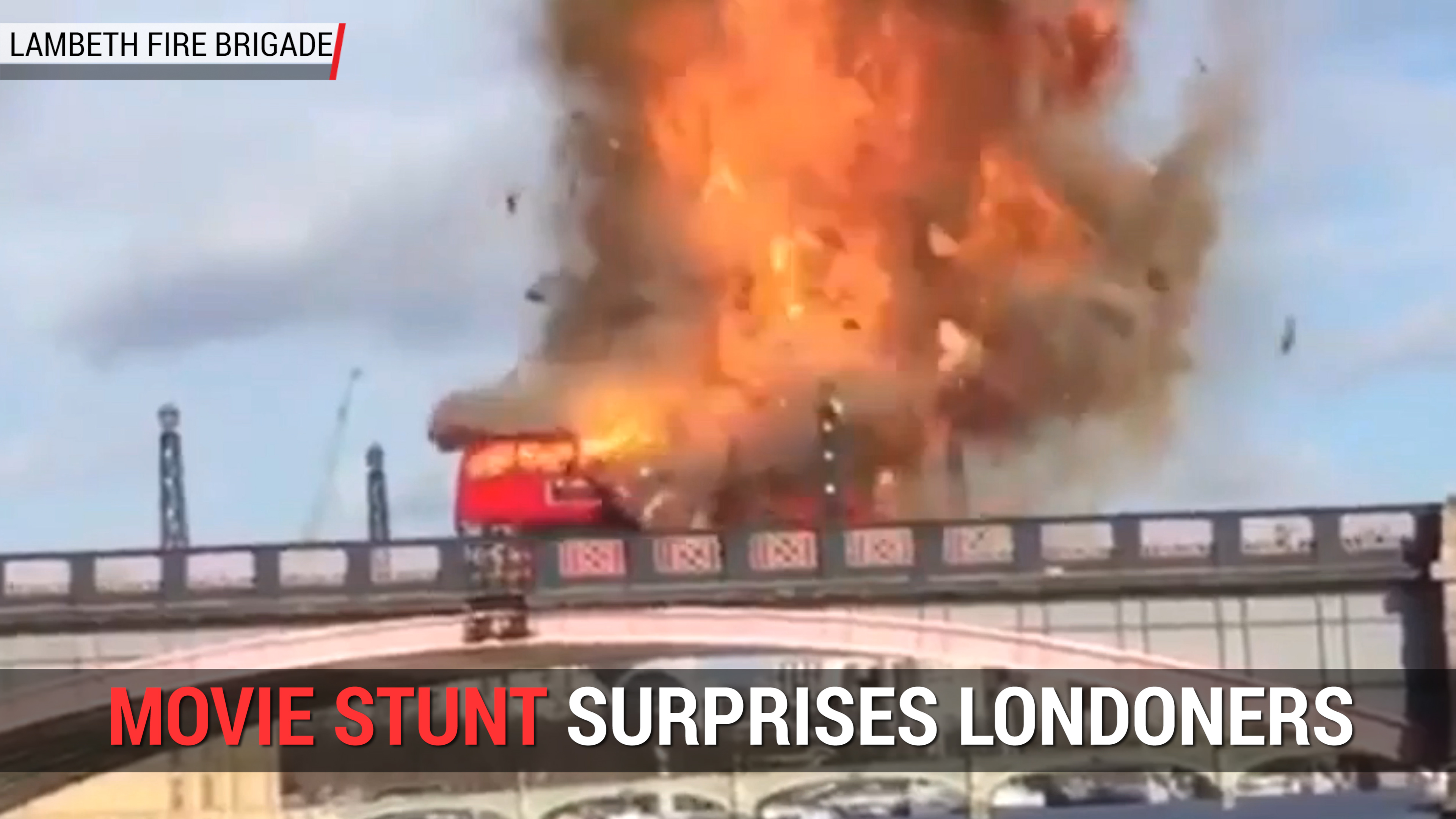 Bus Explosion in London Is Movie Stunt | Autoblog Minute