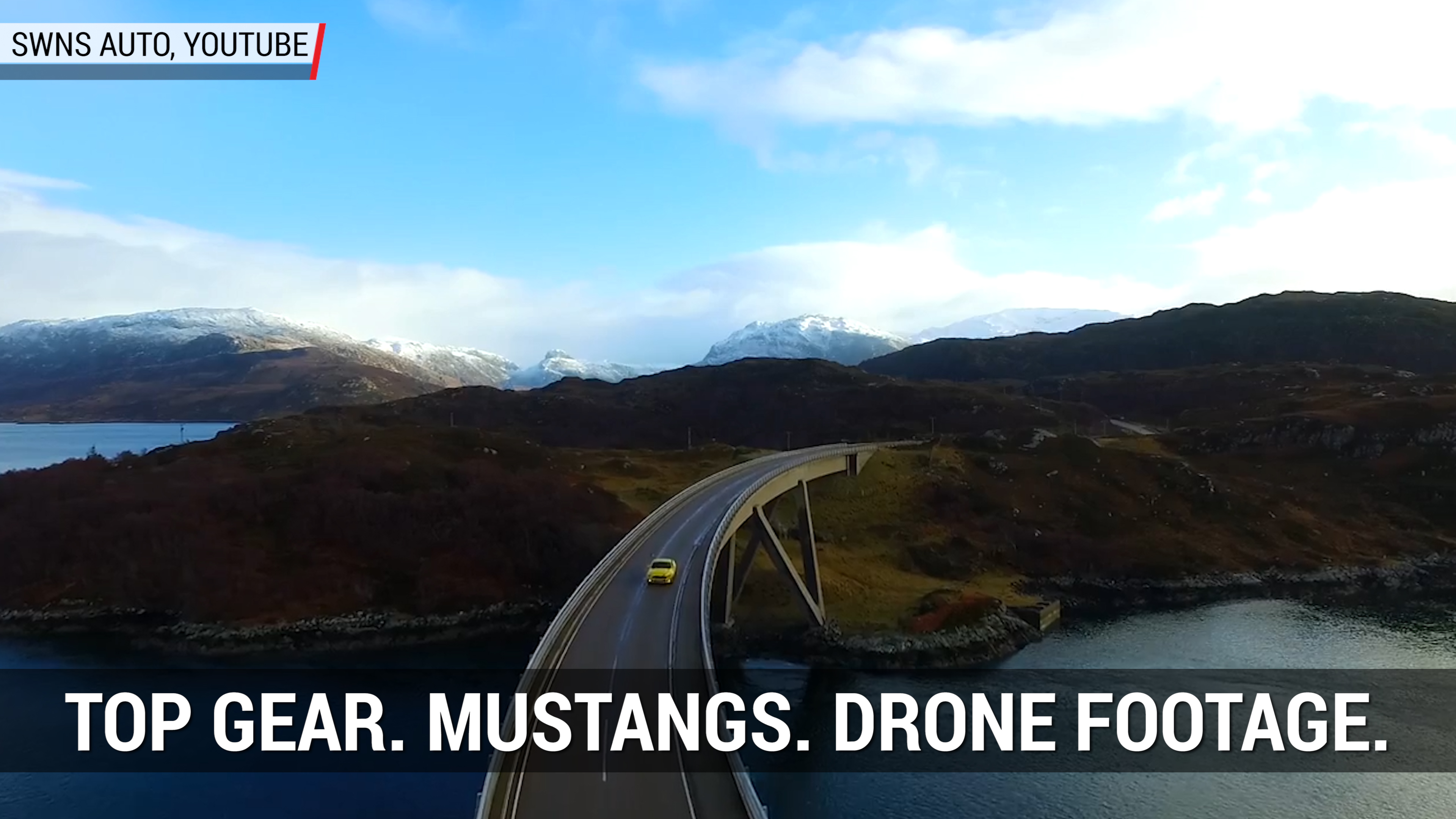 Drone Captures Top Gear Filming Mustangs | Autoblog Minute