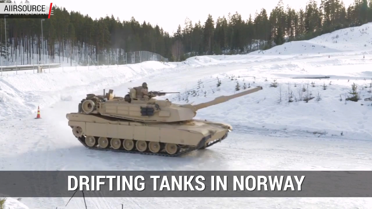 Tanks Drifting in Snow | Autoblog Minute