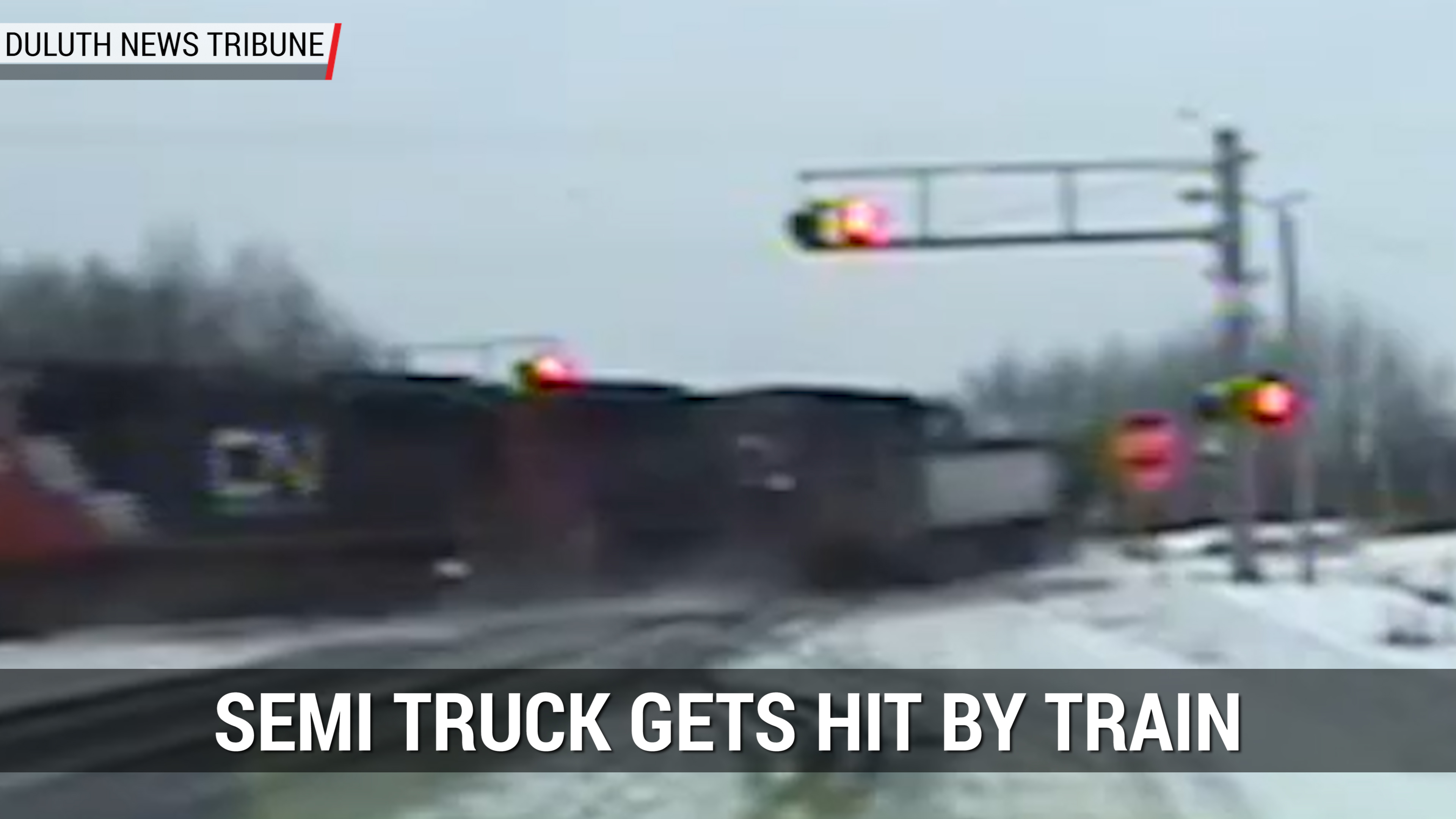 Semi Truck Hit By Train | Autoblog Minute