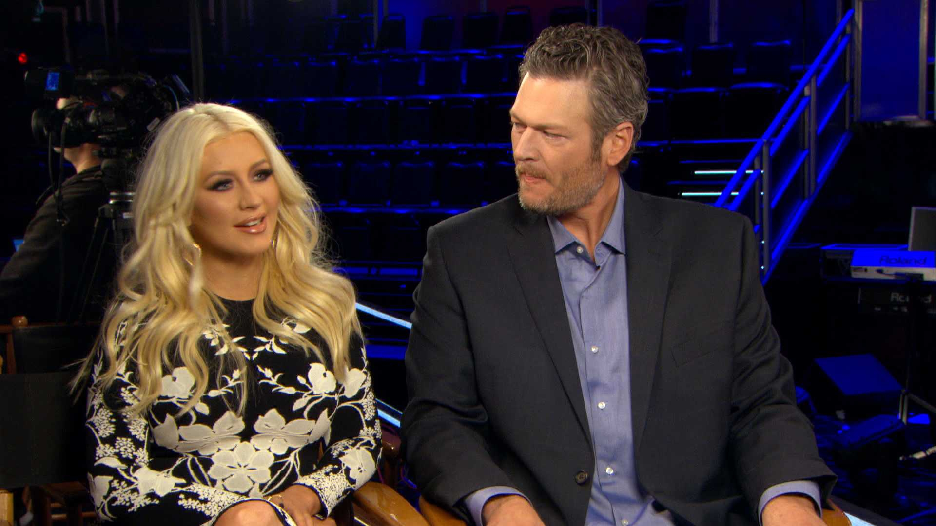 """The Voice"" Coaches Gush Over Christina Aguilera's Return"