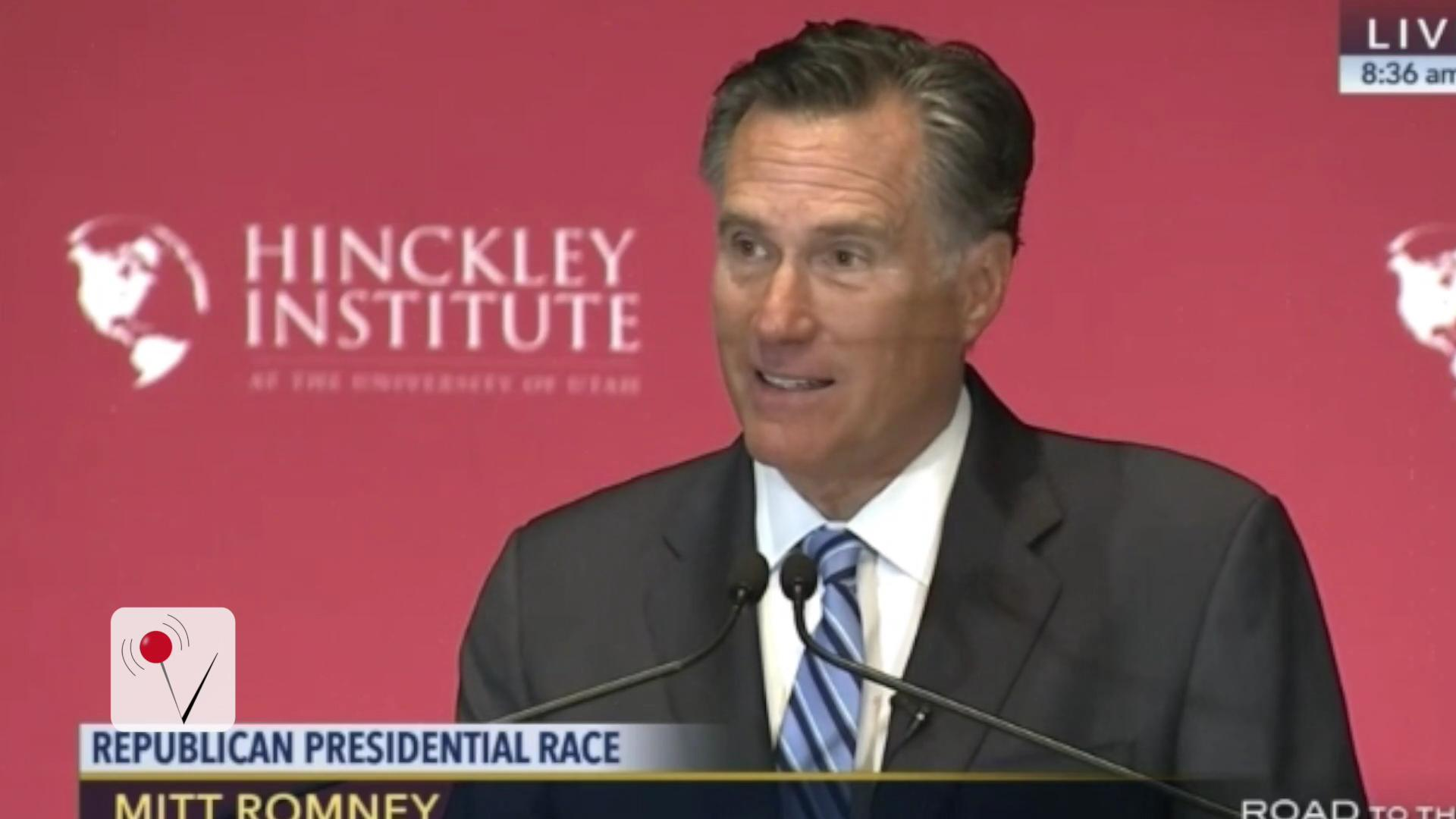 Mitt Romney: 'Trump Is a Fraud'
