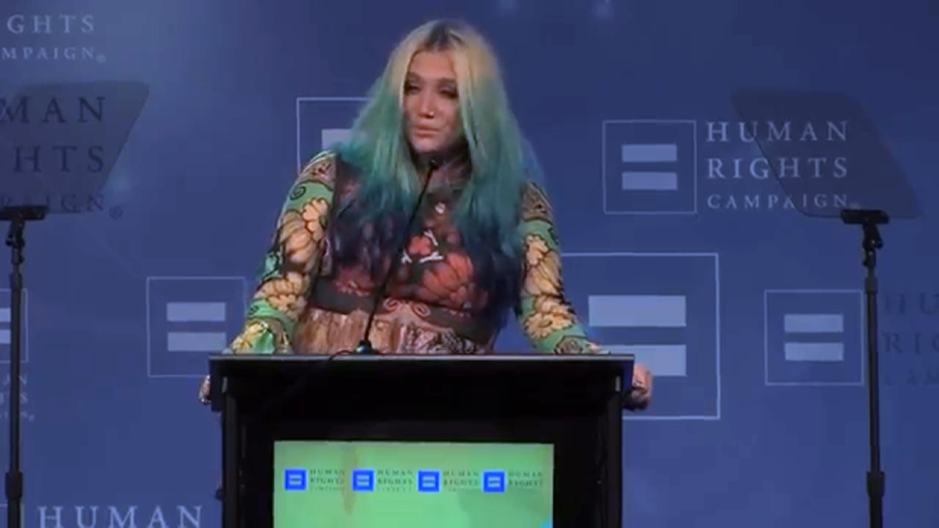 Kesha Gets Emotional While Accepting Award