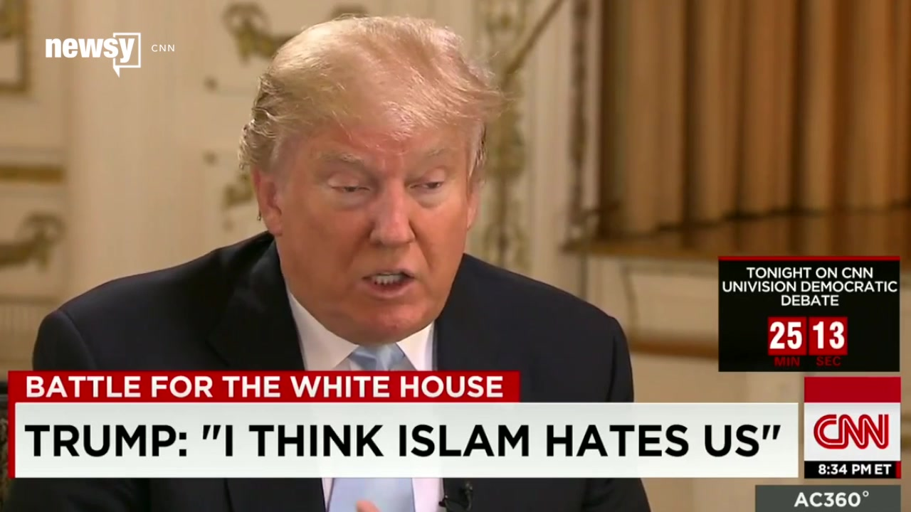 Trump Says 'Islam Hates Us,' but America Split on a Muslim Migrant Ban
