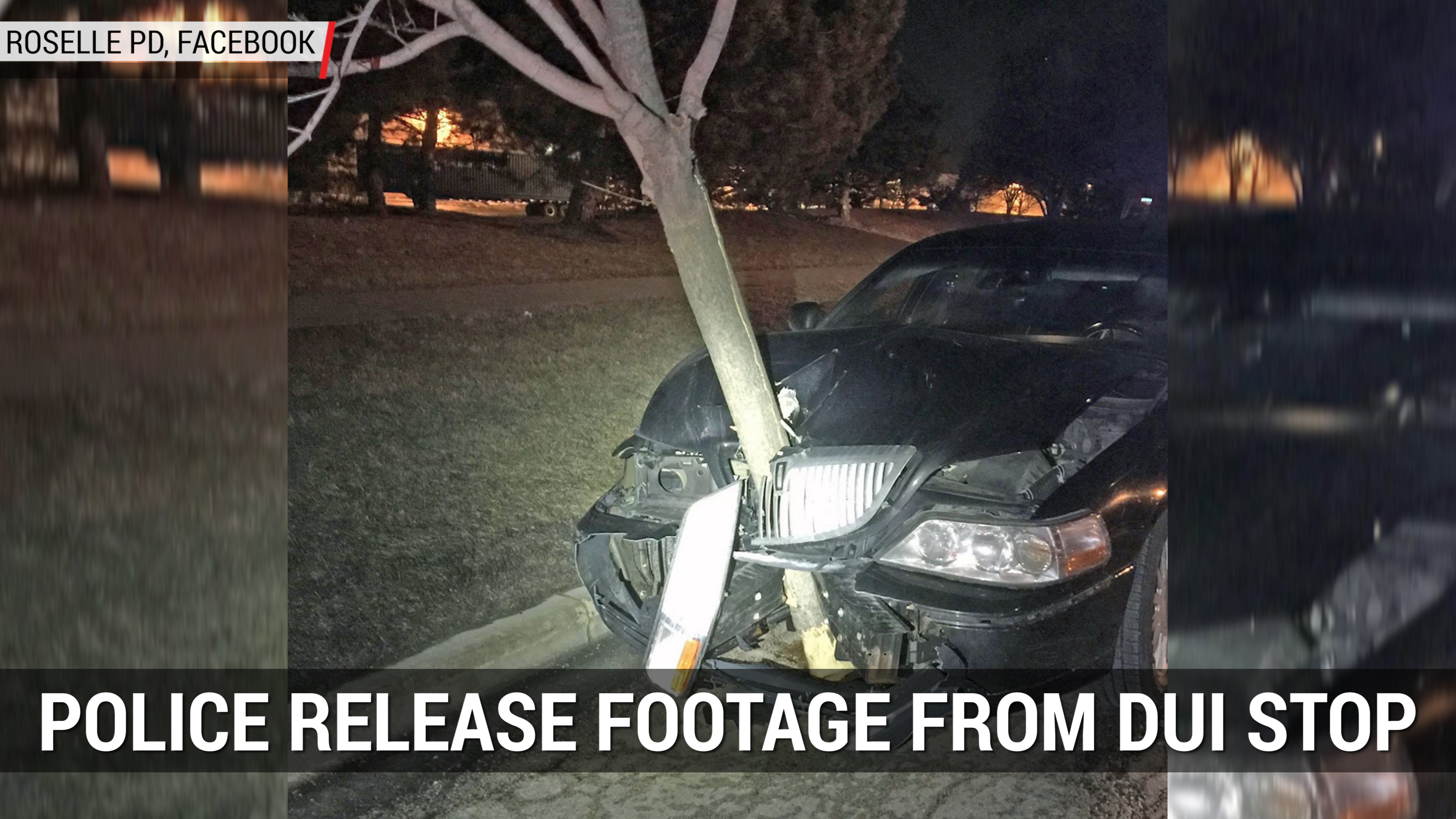 DUI Stop Shows Lincoln Town Car with Tree Stuck in Hood | Autoblog Minute