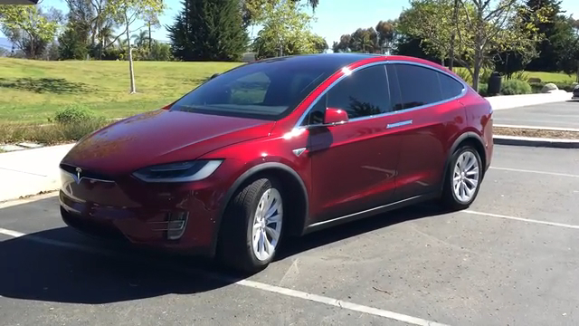 Tesla Model X Automatic Opening Doors