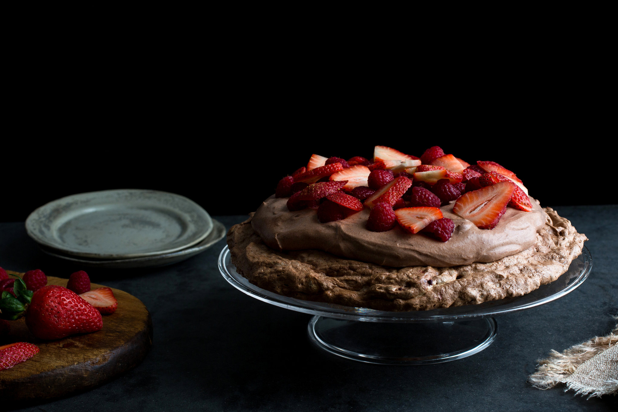 How to Make Chocolate Pavlova with Chocolate Mousse