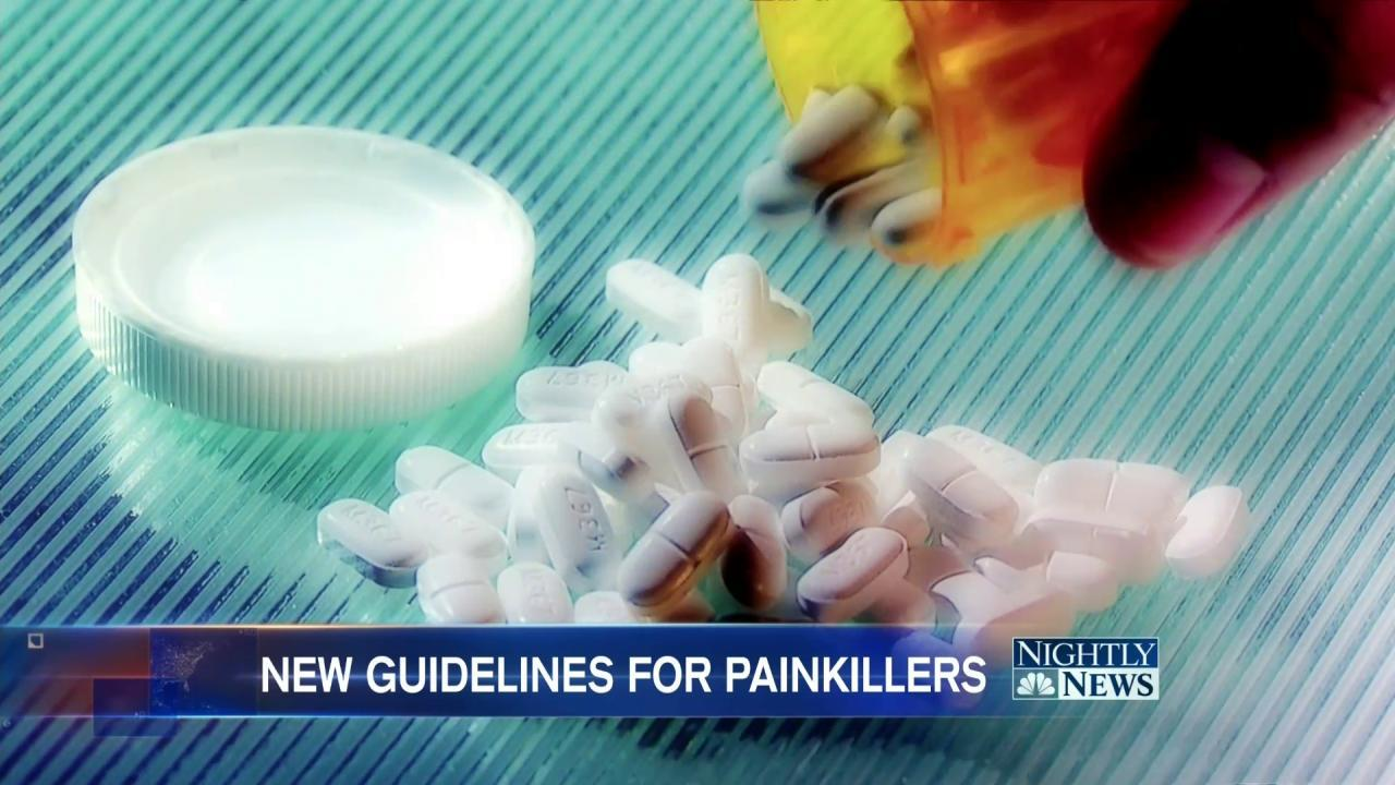 CDC Issues New Guidelines in Effort to Stop U.S. Painkiller Epidemic