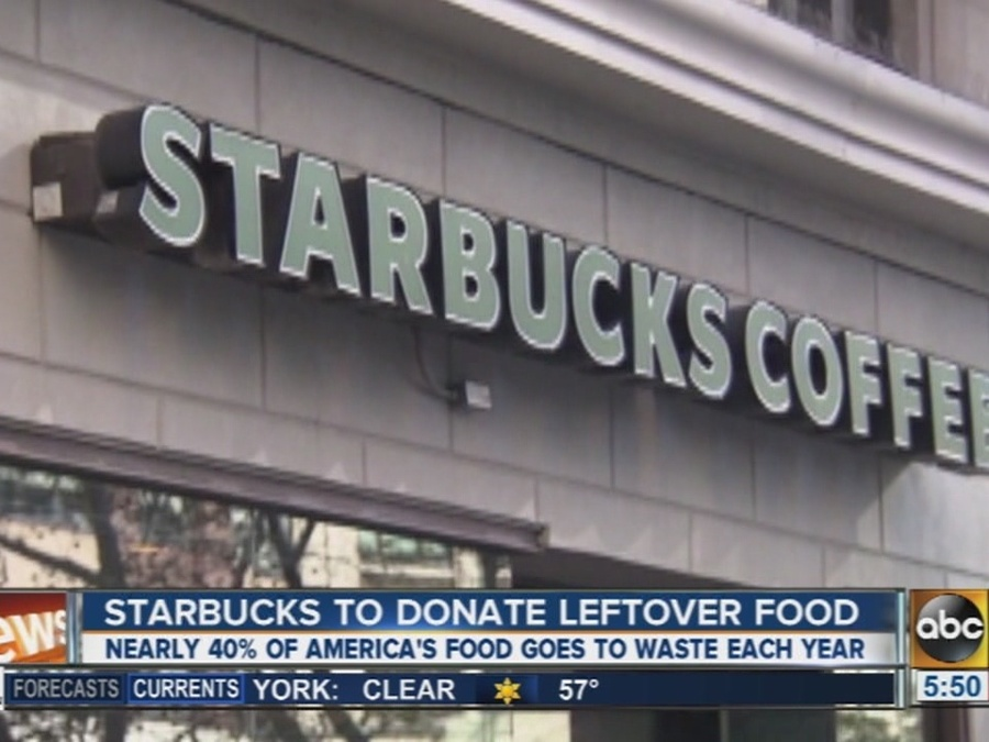 Starbucks to Donate Unsold Food