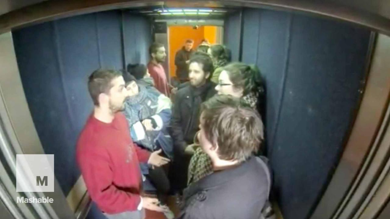 Shia LaBeouf is occupying an elevator at Oxford University because Shia LaBeouf