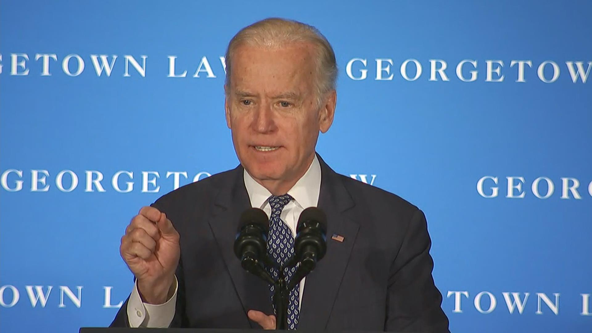 Fiery Biden Says 'There Is No Biden Rule,' 'It's Frankly Ridiculous'