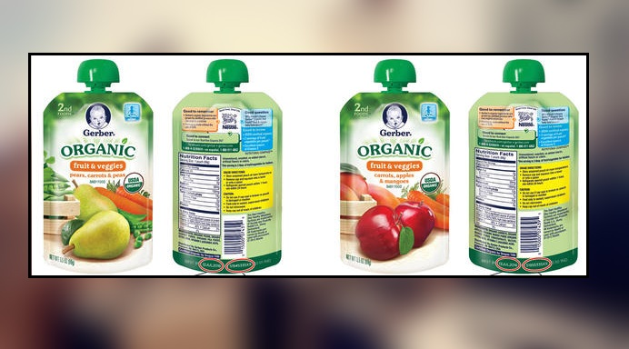 Gerber Recalls Organic Food Pouches Because of Spoilage Risk