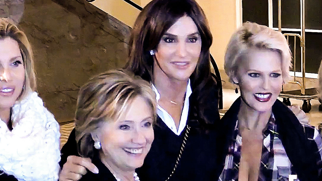 Caitlyn Jenner Happily Chats Trans Issues with Hillary Clinton
