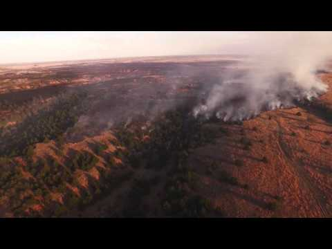Anderson Creek Wildfire Largest in Kansas History