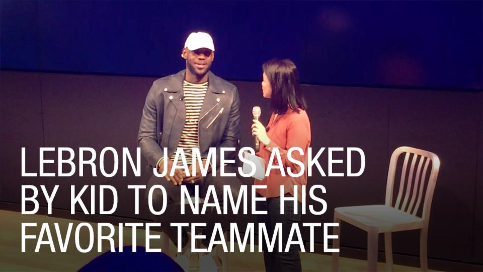 LeBron James Asked by Kid to Name His Favorite Teammate