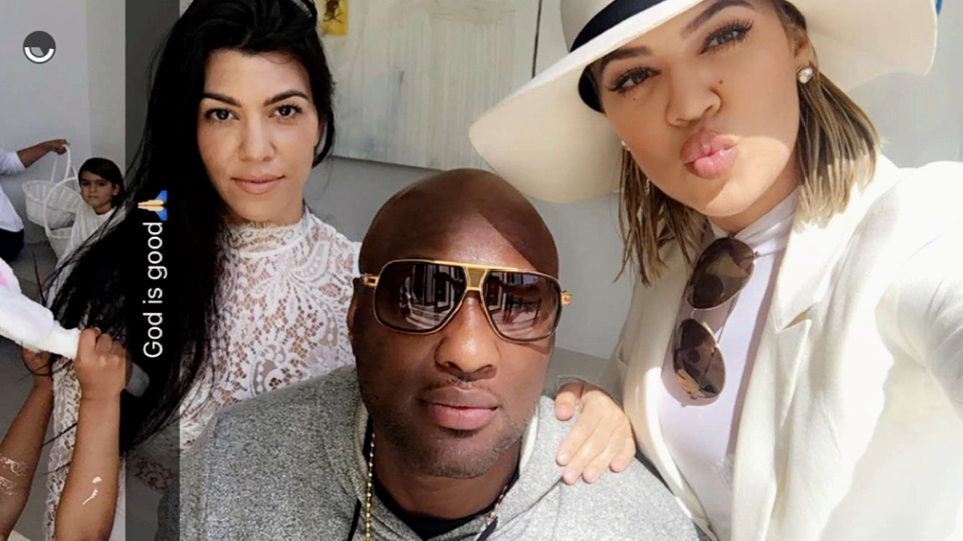 Lamar Odom Spends Easter With the Kardashians