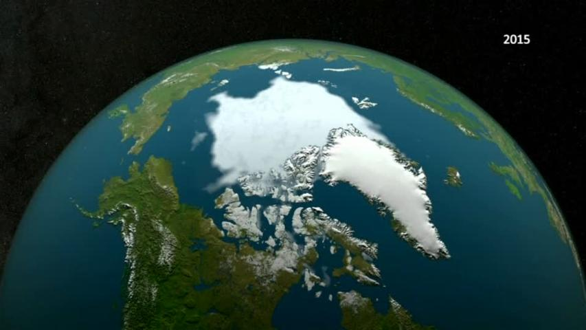 Arctic sea ice dips to record low: NASA