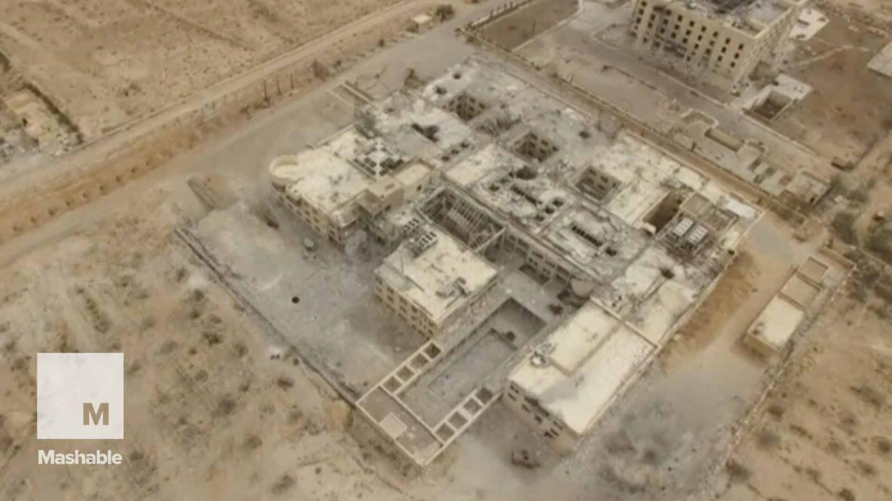Drone Footage Shows Ancient City's Destruction by ISIS