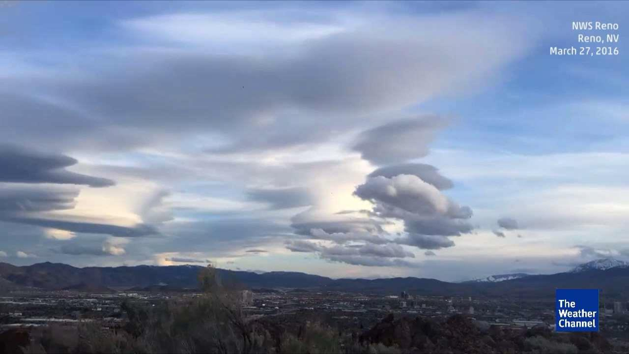 UFO Clouds Spotted Over Reno