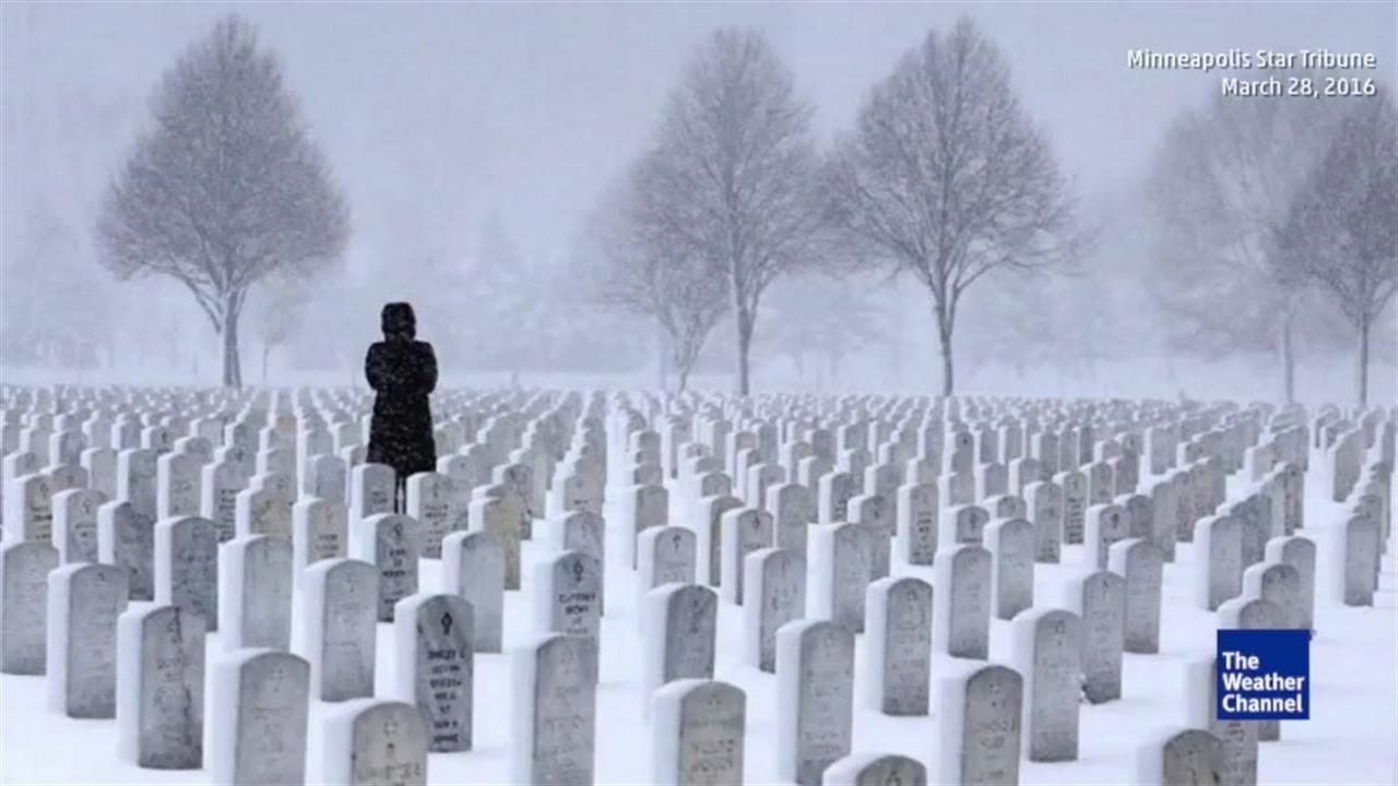 Snowy Cemetery Photo Goes Viral