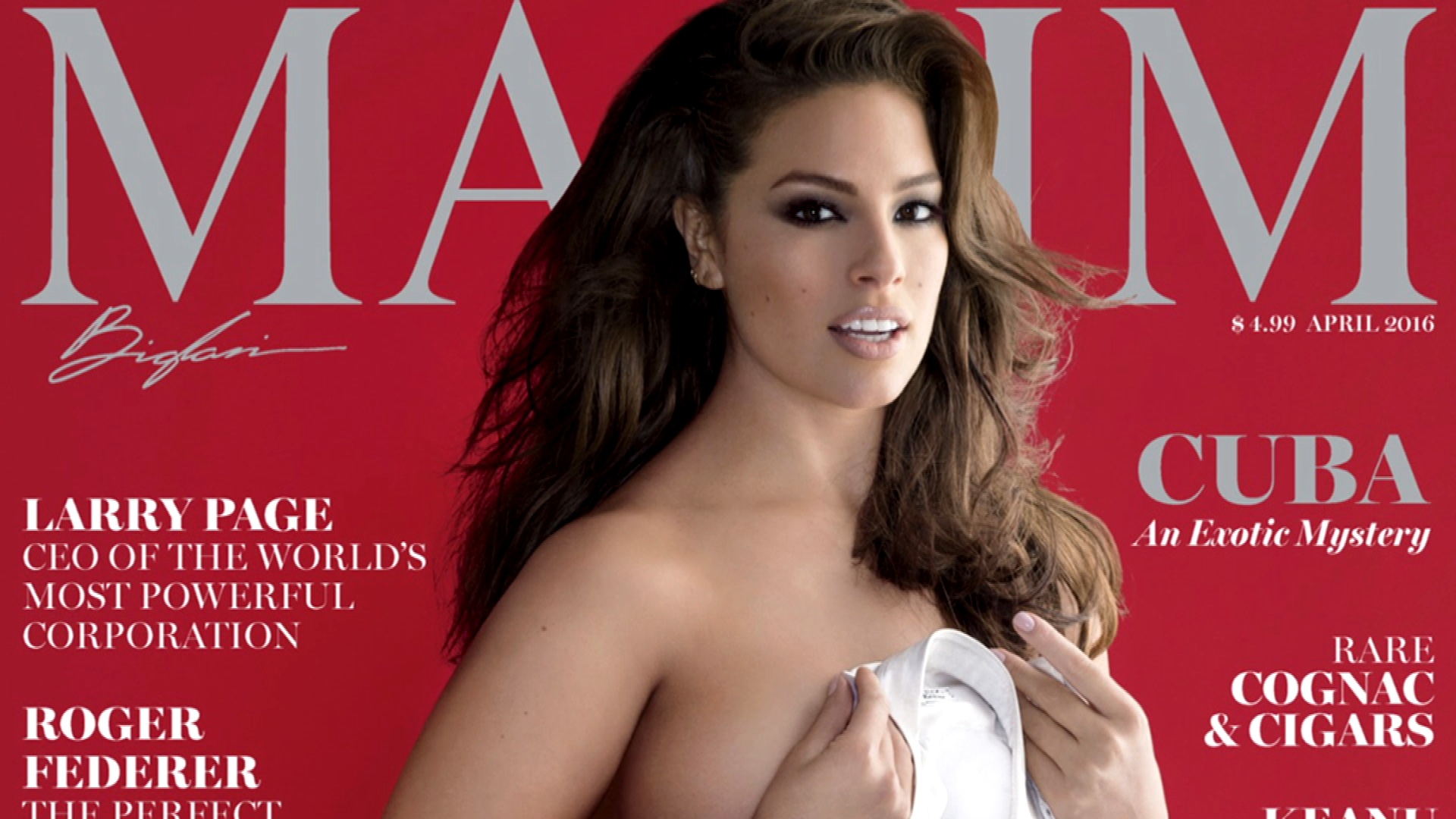 "Ashley Graham Is Nearly Naked on ""Maxim"" Cover"