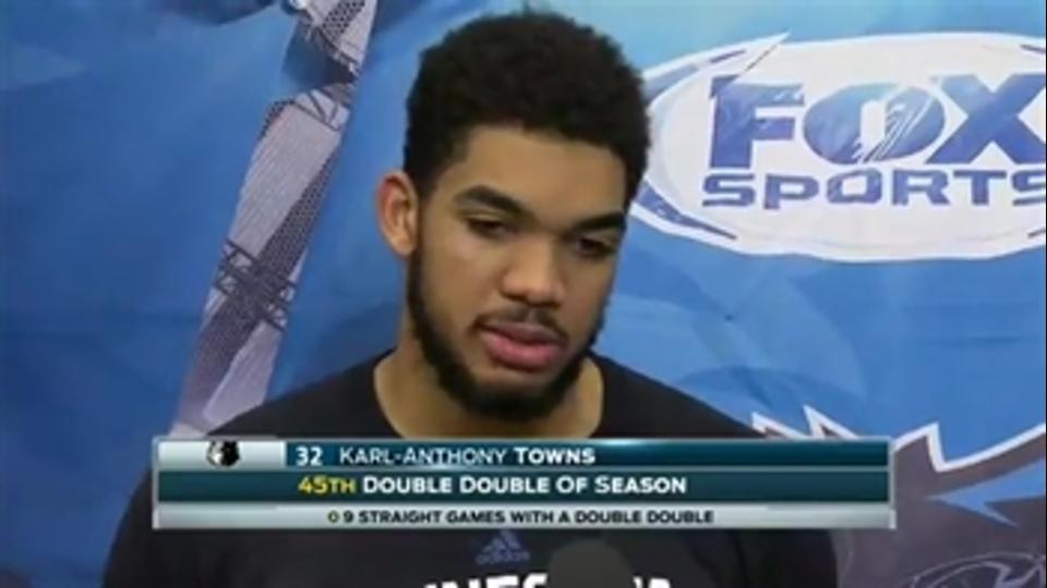 Karl-Anthony Towns: 'A lot of things we've been talking about all year we're starting to do'