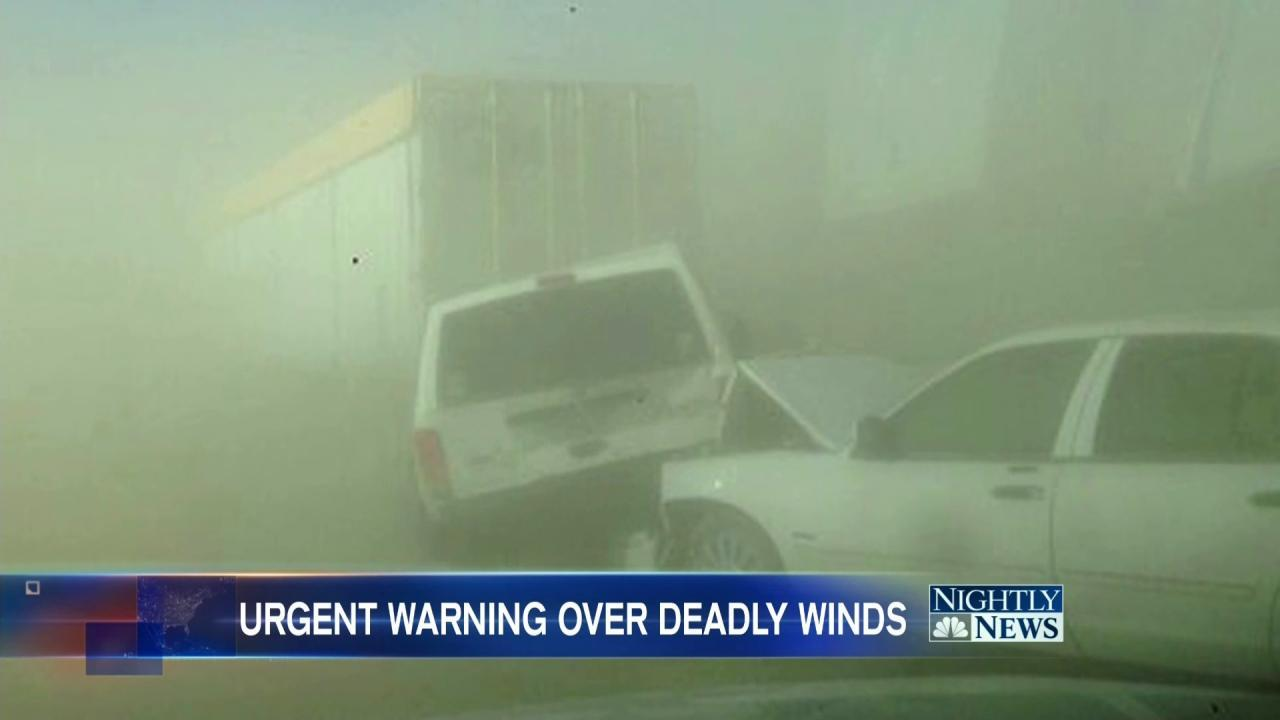 Strong, Deadly Winds Create Dangerous Conditions Across U.S.