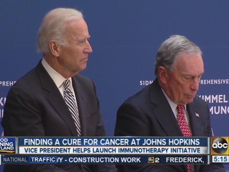 Joe Biden helps find cancer cure at Johns Hopkins