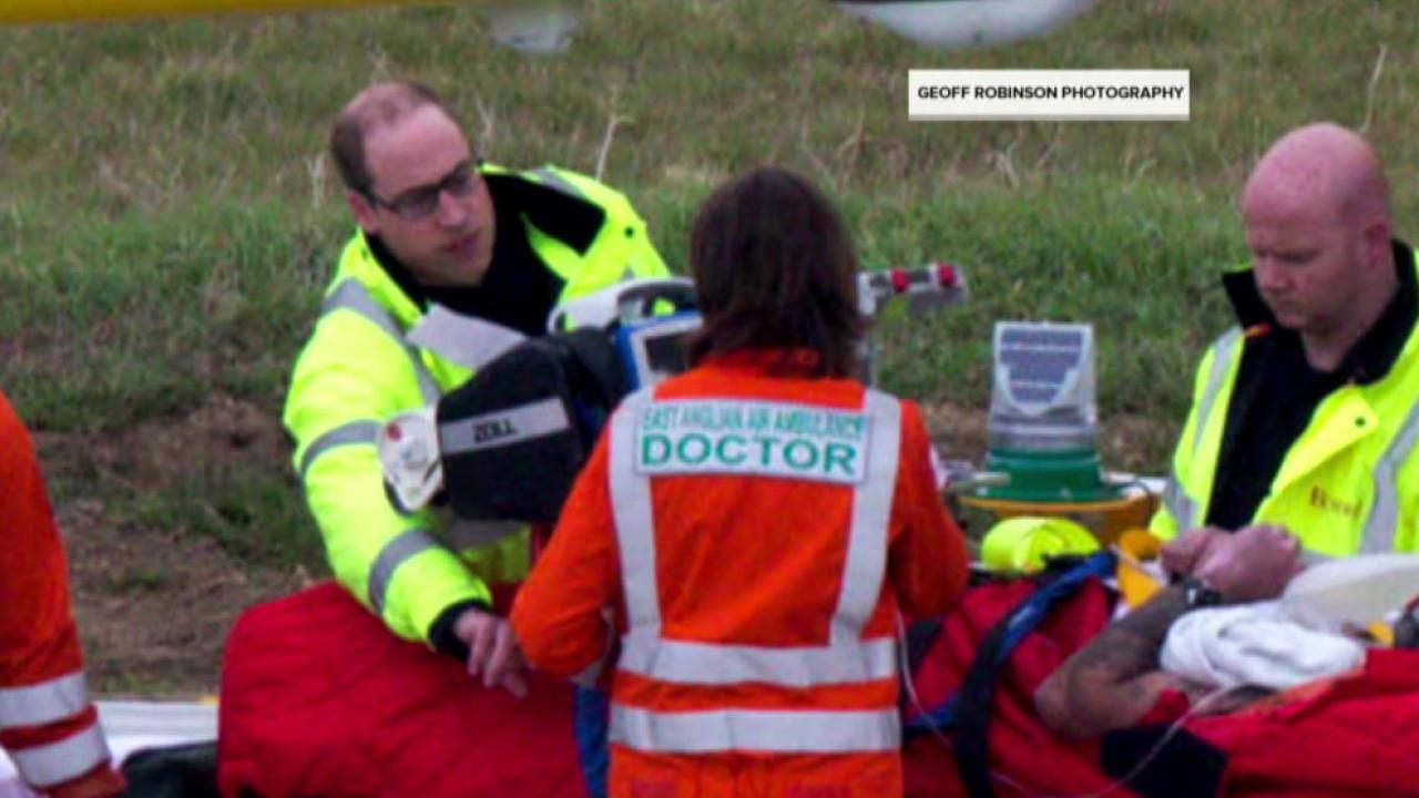 Prince William Unassumingly Rescues Patient in Helicopter