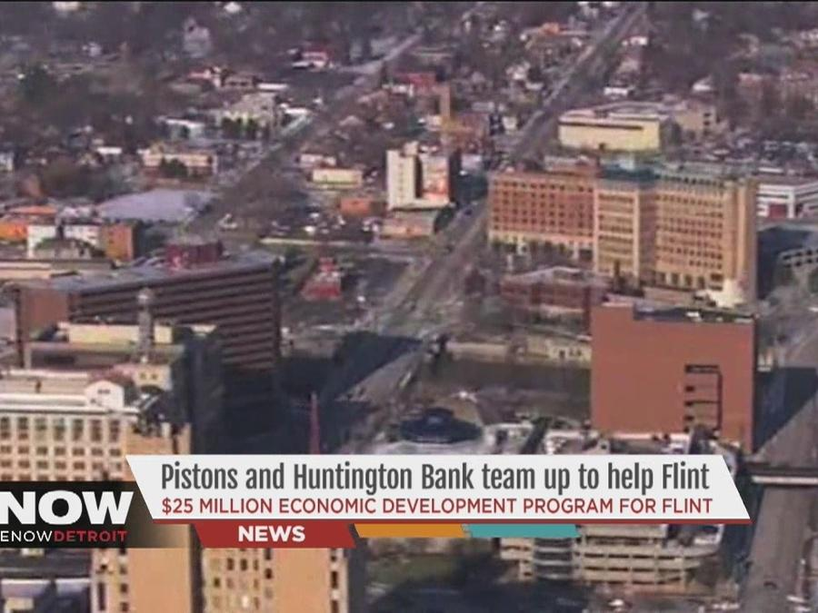 Detroit Pistons and Huntington Bank team up to help Flint residents