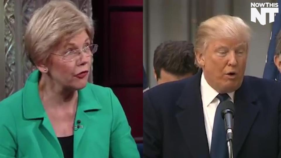 Elizabeth Warren Tells Stephen Colbert Donald Trump Is Not A Business Success