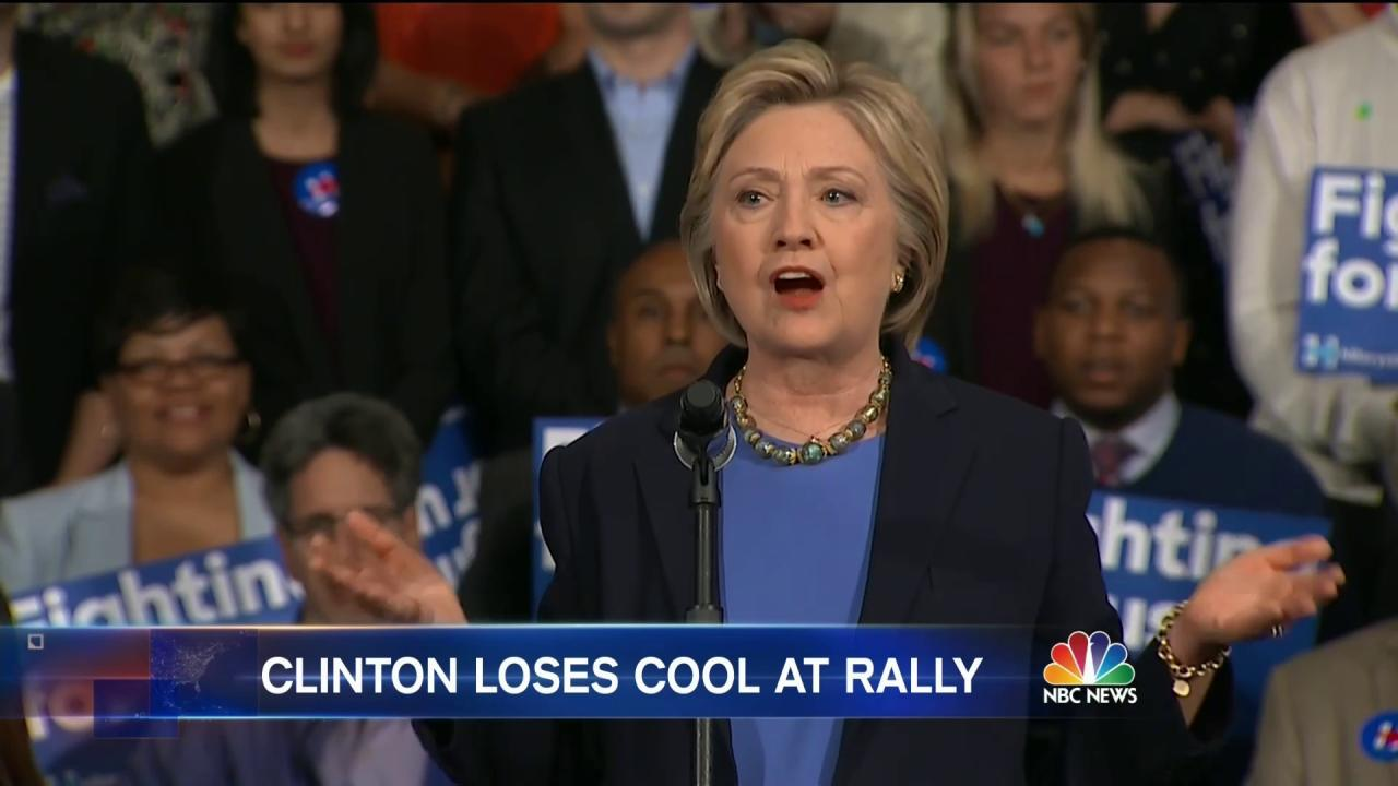 Hillary Clinton: 'I Am So Sick of the Sanders Campaign Lying About Me'