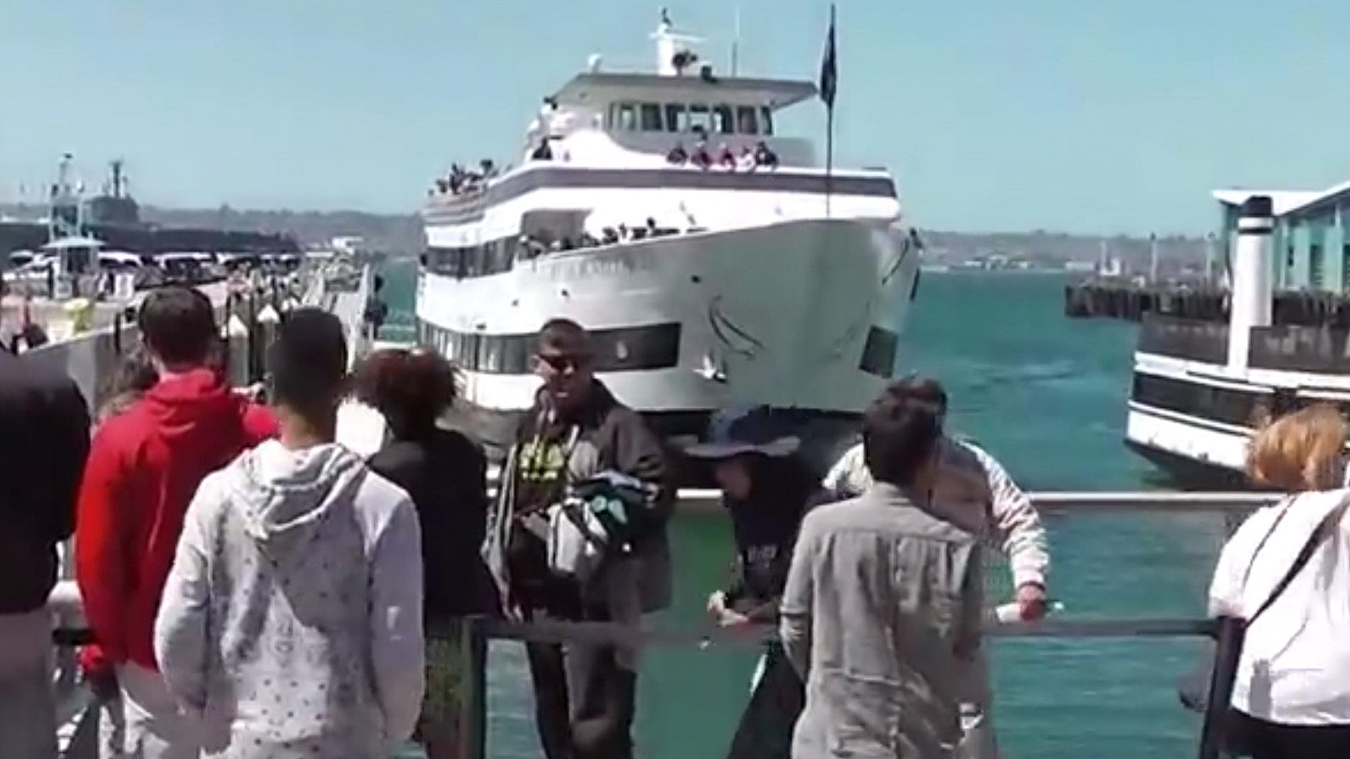 Tourists Flee as Cruise Ship Crashes Into Sea Wall
