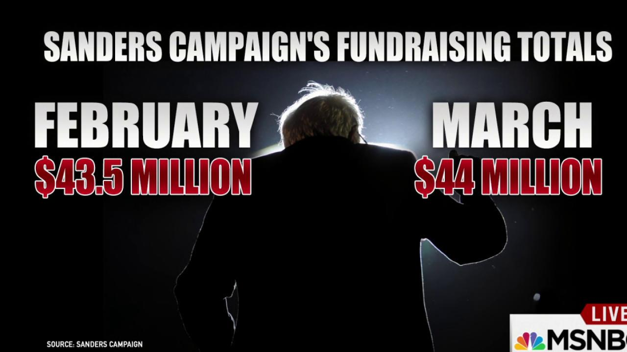 Money Continues to Pour in for Sanders Campaign