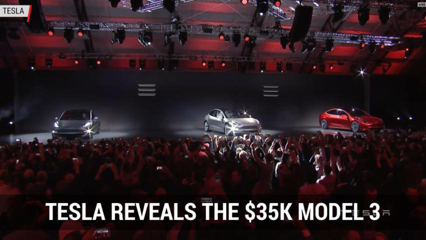 Tesla Model 3 Reveal | Autoblog Minute