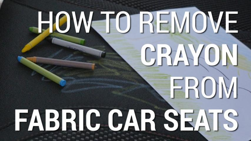 How To Remove Crayon Marks From Fabric Car Seats | Car Hacks