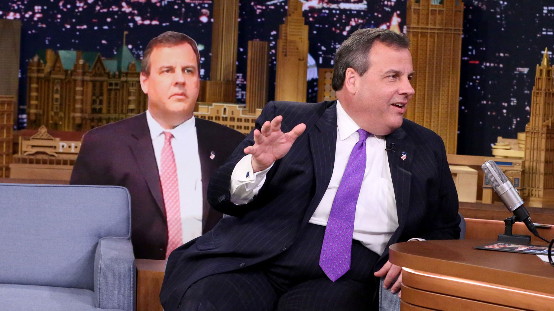 Gov. Chris Christie Explains His Awkward Super Tuesday Face Behind Donald Trump