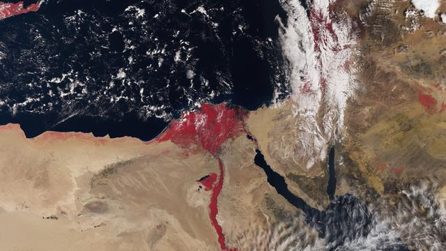 Why Does Nile Appear Blood-Red In This Satellite Image