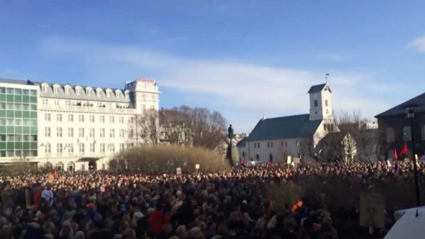 Huge protests in Iceland over prime minister's link to 'Panama Papers'