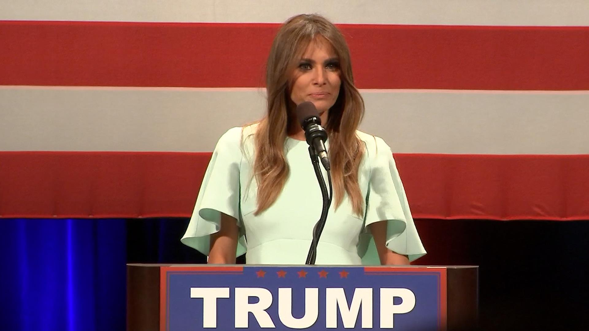 Melania Campaigns for Trump