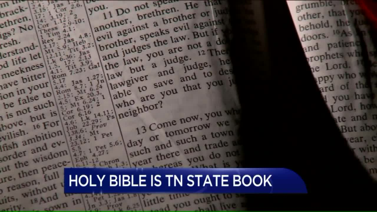 Tennessee Lawmakers Vote to Make Bible State Book