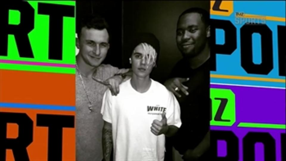 Johnny Manziel admires Justin Bieber's dreadlocks - 'TMZ Sports'