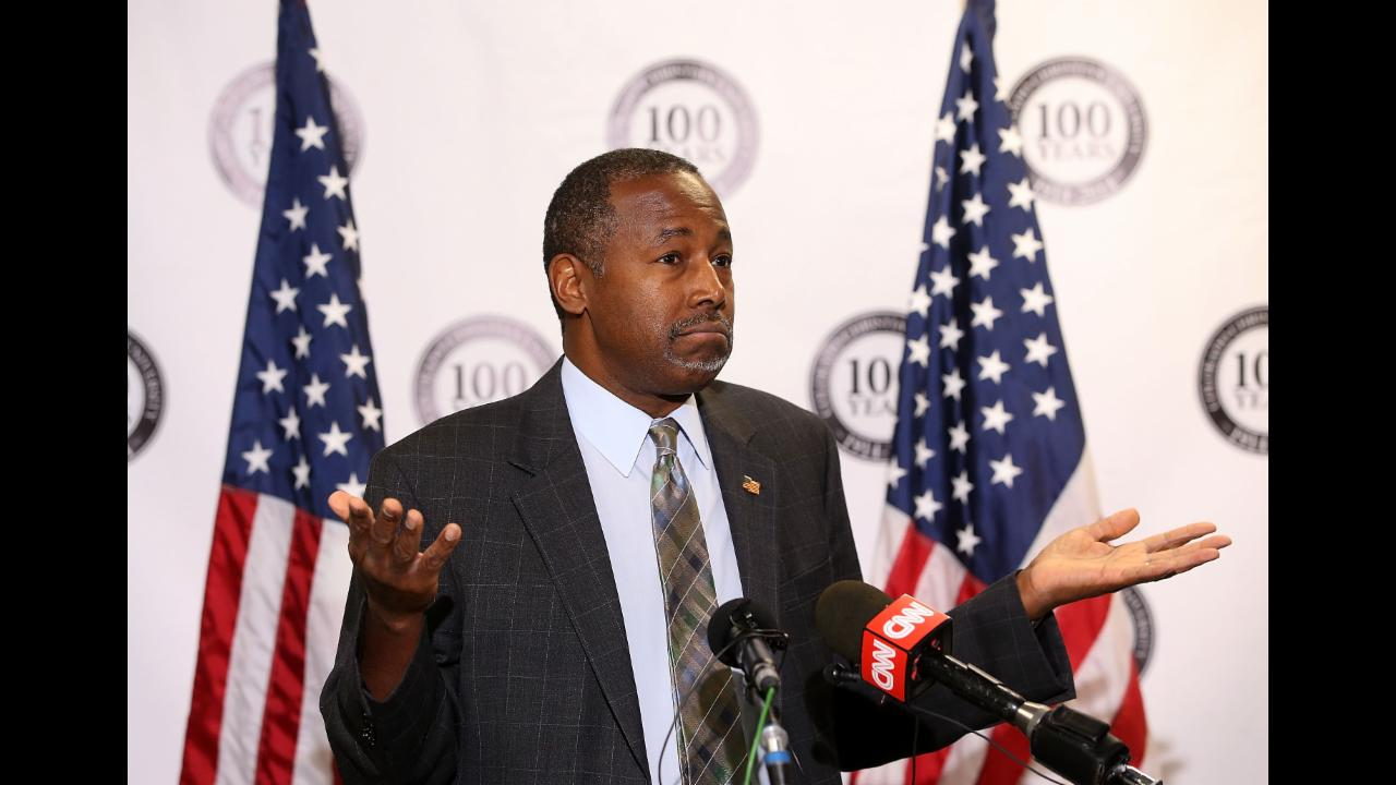 Ben Carson Suggests CNN Anchor Has a Criminal Background