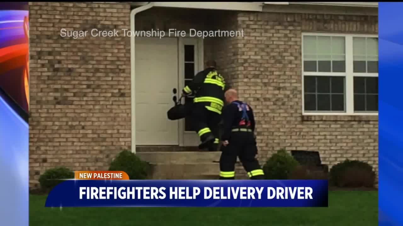 Firefighters Deliver Pizza for Driver After Crash
