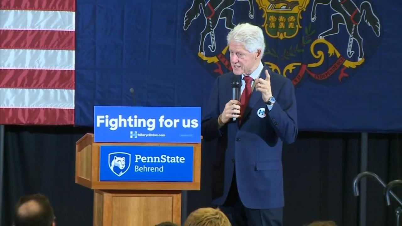 Bill Clinton Calls for Unity After Dust Up with Protesters